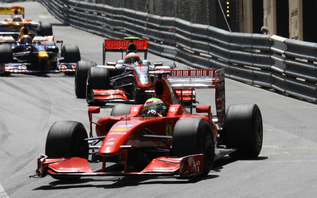 Ferrari on the monaco grand prix