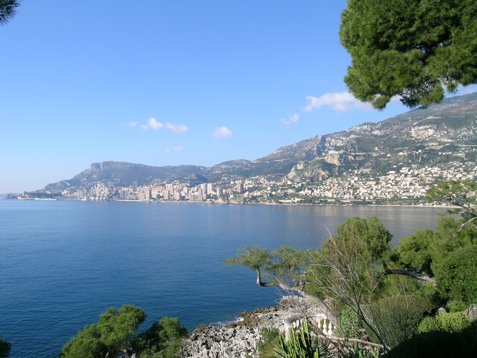 Views over Monaco taken from Cap Martin property