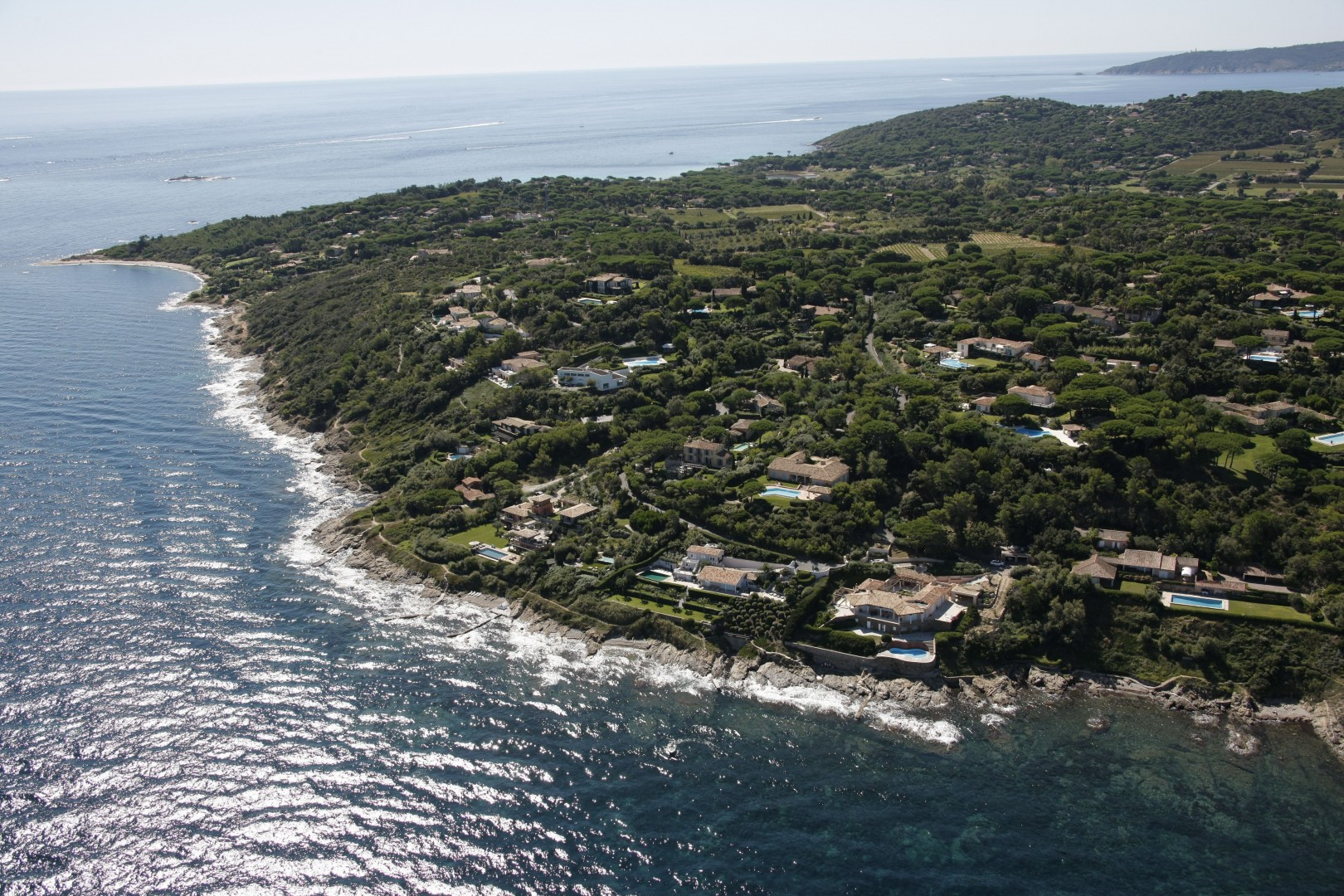 Arial views of Les Parcs de Saint Tropez
