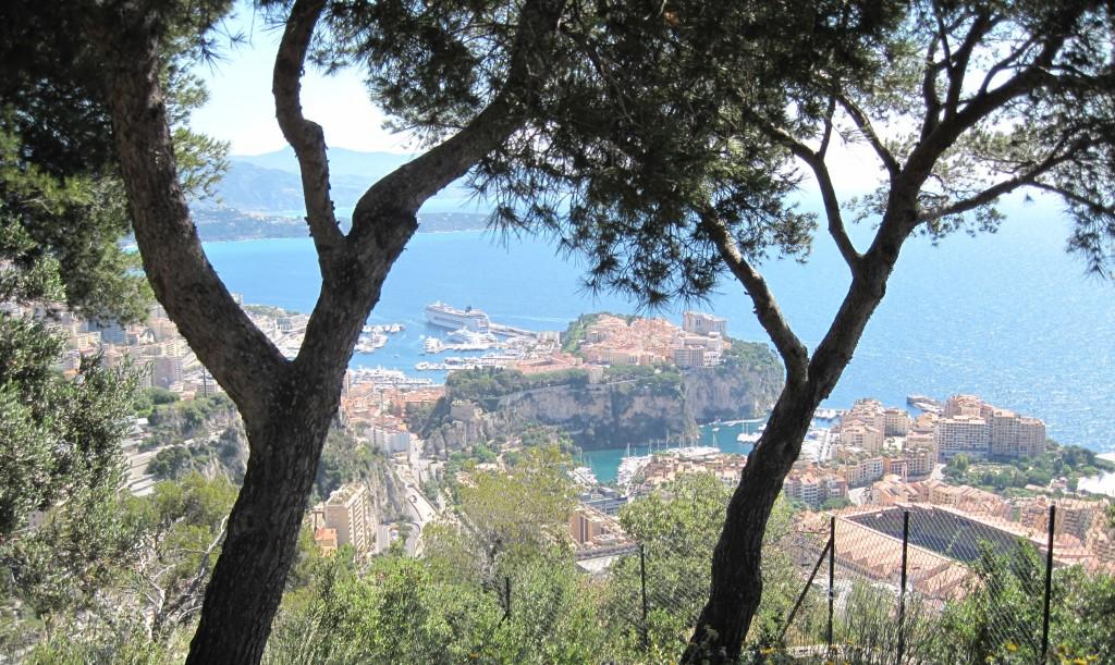 Views from a villa over Monaco