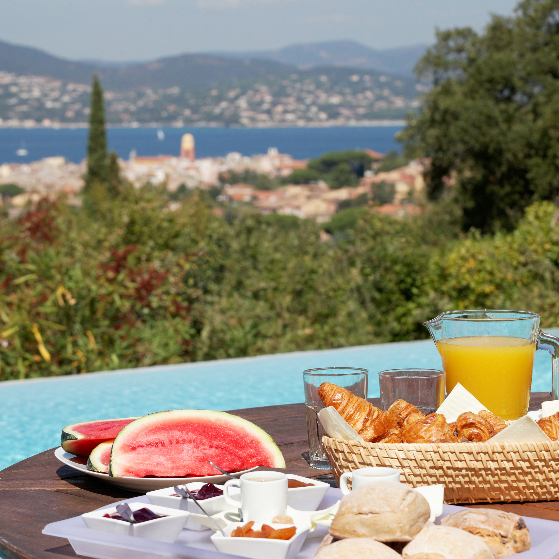 Views overlooking Saint Tropez