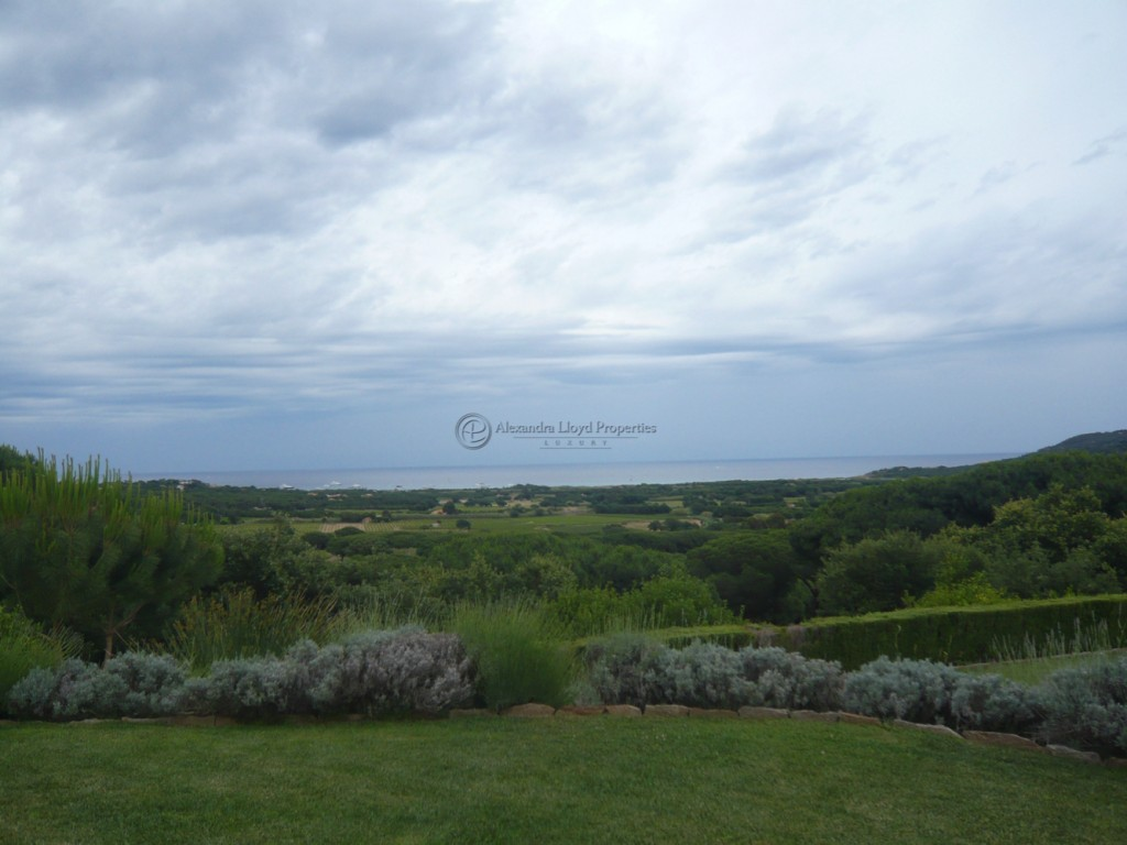 Countryside views from a property located in l'Oumede Ramatuelle