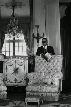 Karl Lagerfeld in Villa La Vigie in a luxury villa for rent in Monaco