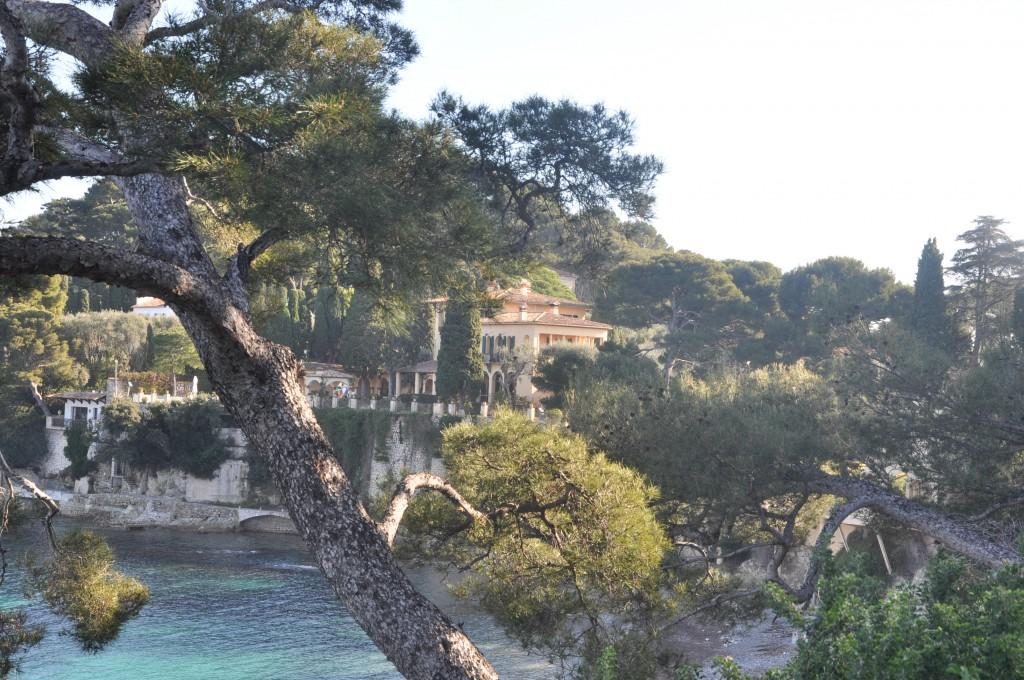 views of a property taken from the beach in Saint Jean Cap Ferrat