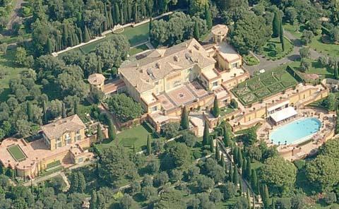 Aerial view of Villa La Leopolda