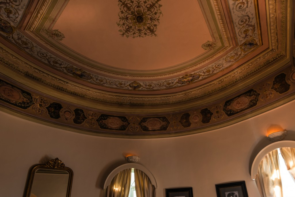 Living room ceilings of the Chateau